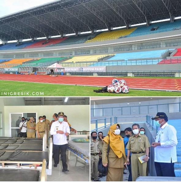 Stadion Bola di Gresik Diubah Jadi Tempat Isolasi
