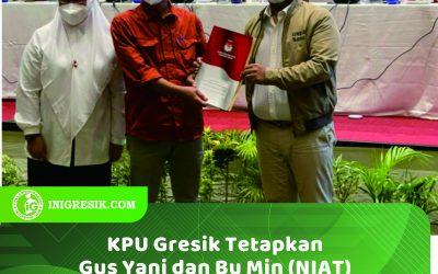 KPU Gresik Resmi Tetapkan Pasangan NIAT Sebagai Pemenang