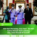 100 Hari Pertama, Gus Yani Fokus Banjir Kali Lamong dan Jalan Rusak di Gresik