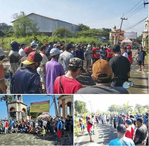 Tolak Kerusakan Fasum dan Premanisme, Warga ABR Tutup Jalan Masuk