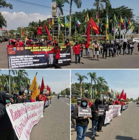 Mahasiswa dan Buruh di Gresik Turun Jalan May Day Ini Tuntutannya