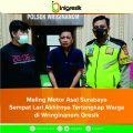 Maling Motor Asal Surabaya, Tertangkap Setelah Dikejar Warga di Wringinanom
