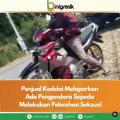 Penjual Kedelai Melaporkan ada Pengguna Sepeda Melakukan Pelecehan